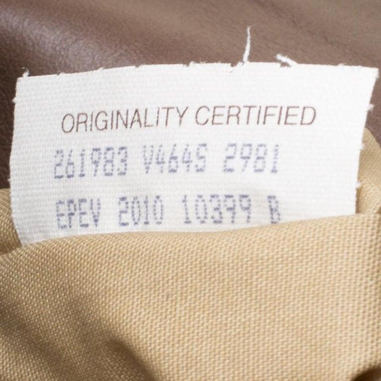 Bottega Veneta Brown Leather Messenger Bag For Sale 4