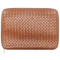 Bottega Veneta Brown Leather Notebook Case