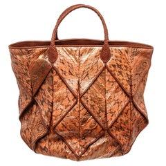 Bottega Veneta Brown Leather Origami Shopper Tote Bag
