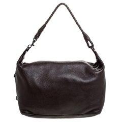 Bottega Veneta Brown Leather Shoulder Bag