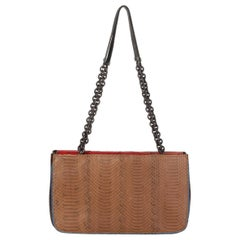 BOTTEGA VENETA brown red blue TRI COLOR AYERS Shoulder Bag