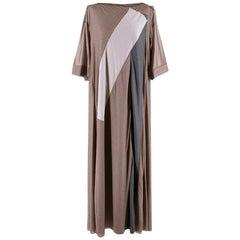 Bottega Veneta Brown Sheer Draped Oversize Maxi Dress - Size US 4