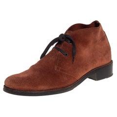Bottega Veneta Brown Suede Desert Boots Size 39