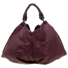 Bottega Veneta Burgundy Leather Large Aquilone Fortune Cookie Hobo