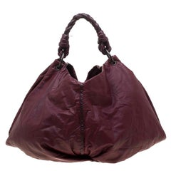 Bottega Veneta Burgundy Leather Large Aquilone Fortune Cookie Hobo