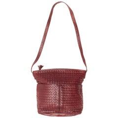Bottega Veneta Burgundy Shoulder Bag