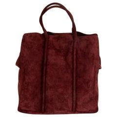 BOTTEGA VENETA burgundy suede Tote Bag