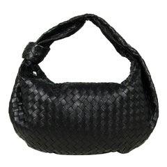 Bottega Veneta BV Black Woven Intrecciato 15 Leather Medium Jodie Hobo Bag