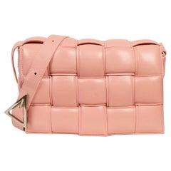 Bottega Veneta BV Peachy Maxi Intrecciato Leather Padded Cassette Crossbody Bag