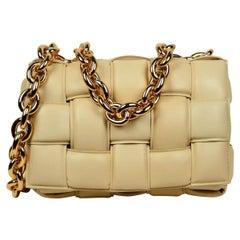 Bottega Veneta BV Porridge Intrecciato Leather The Chain Cassette Crossbody Bag