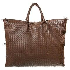Bottega Veneta Cabat Tote Intrecciato Woven Brown Leather