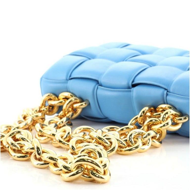 Bottega Veneta Cassette Chain Crossbody Bag Padded Maxi Intrecciato Leather 1