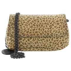 Bottega Veneta Chain Flap Crossbody Bag Printed Intrecciato Nappa Small