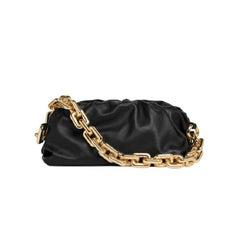 Bottega Veneta Chain Pouch Black Leather Shoulder Bag