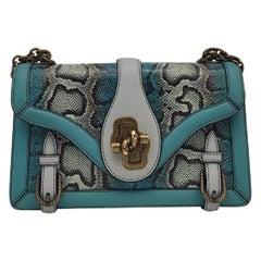BOTTEGA VENETA city knot Shoulder bag in Blue Leather