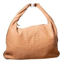 Bottega Veneta Nude Intrecciato Leather Hobo Bag Classic