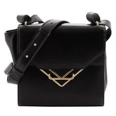 Bottega Veneta Clip Flap Bag Leather