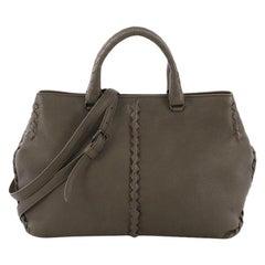 Bottega Veneta Convertible Tote Leather with Intrecciato Detail Medium