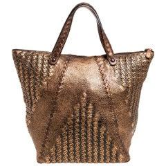 Bottega Veneta Copper Leather Cervo Tote