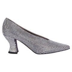 BOTTEGA VENETA Crystal Embellished ALMOND Pumps Shoes 38.5