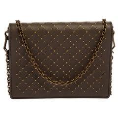 Bottega Veneta Dark Beige Leather Catena Wallet on Chain