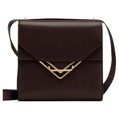 BOTTEGA VENETA dark brown leather 2021 FONDANT THE CLIP Shoulder Bag