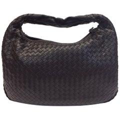 Bottega Veneta Dark Brown Woven Leather Shoulder Bag