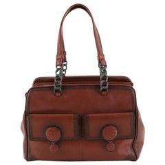Bottega Veneta Double Pocket Boston Bag Ombre Leather