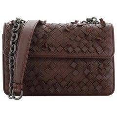 Bottega Veneta Double Sided Flap Shoulder Bag Fringe Intrecciato Nappa Small