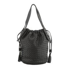 Bottega Veneta Drawstring Tassel Bucket Bag