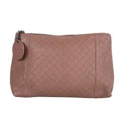 BOTTEGA VENETA dusty rose MIRAGE PAPILLON Zip Pouch Clutch Bag