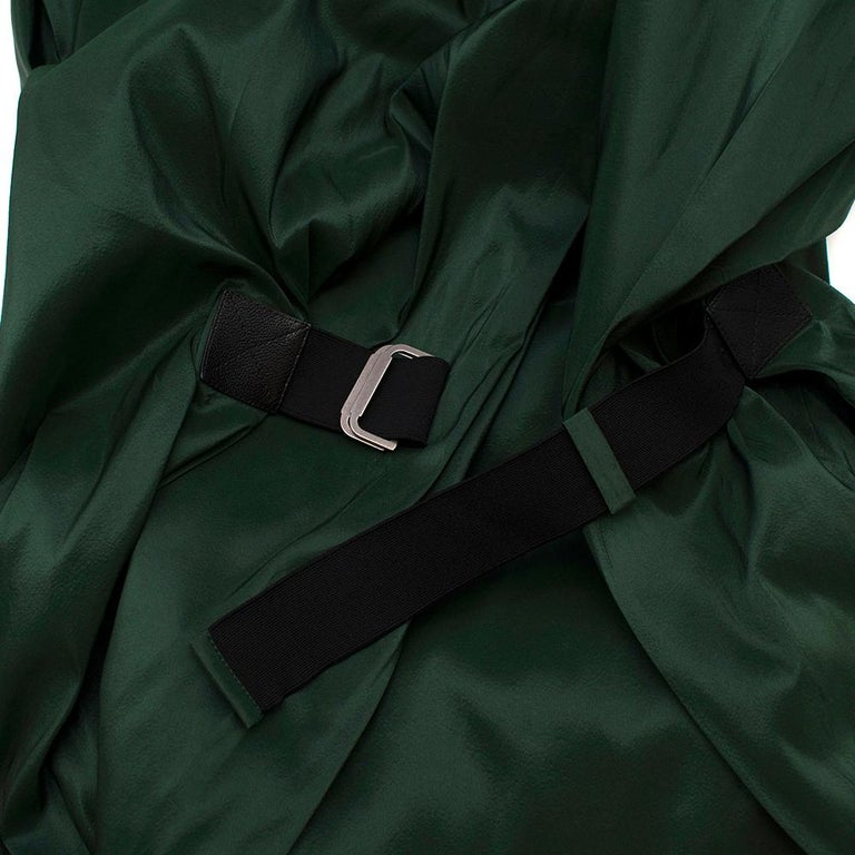 Bottega Veneta Emerald Green Silk Open Back Dress 40 For Sale 3