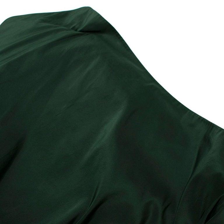 Bottega Veneta Emerald Green Silk Open Back Dress 40 For Sale 4