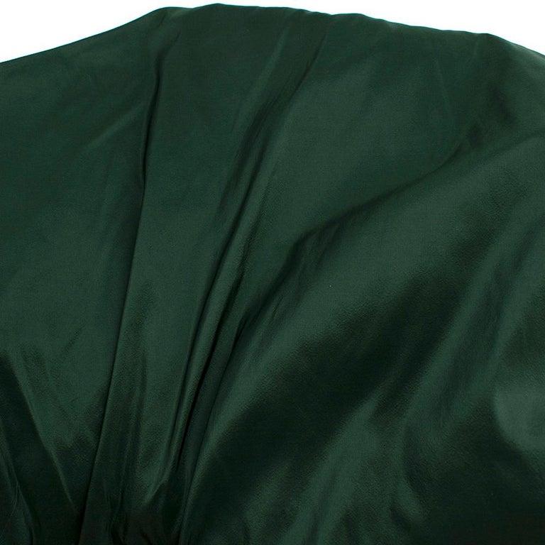 Bottega Veneta Emerald Green Silk Open Back Dress 40 For Sale 5
