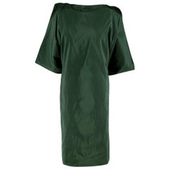 Bottega Veneta Emerald Green Silk Open Back Dress 40