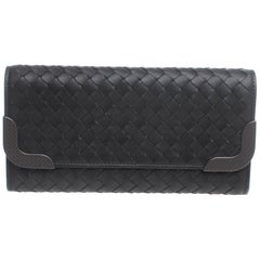 Bottega Veneta Entreccio Leather Wallet