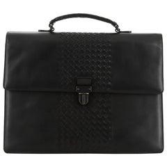 Bottega Veneta Envelope Briefcase Leather with Intrecciato Detail