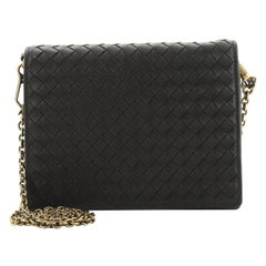 Bottega Veneta Flap Wallet on Chain Intrecciato Nappa Small