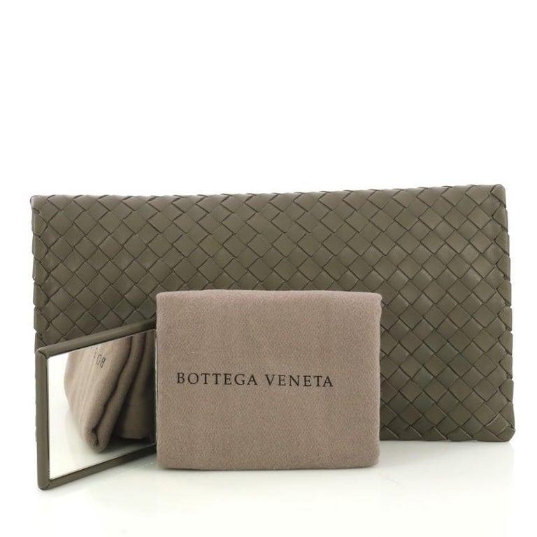 Bottega Veneta Fold Over Turnlock Clutch Intrecciato Nappa 1