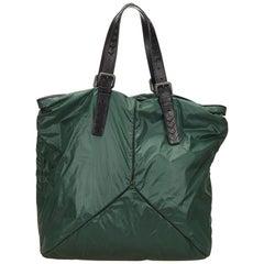 Bottega Veneta Green Nylon Shoulder Bag