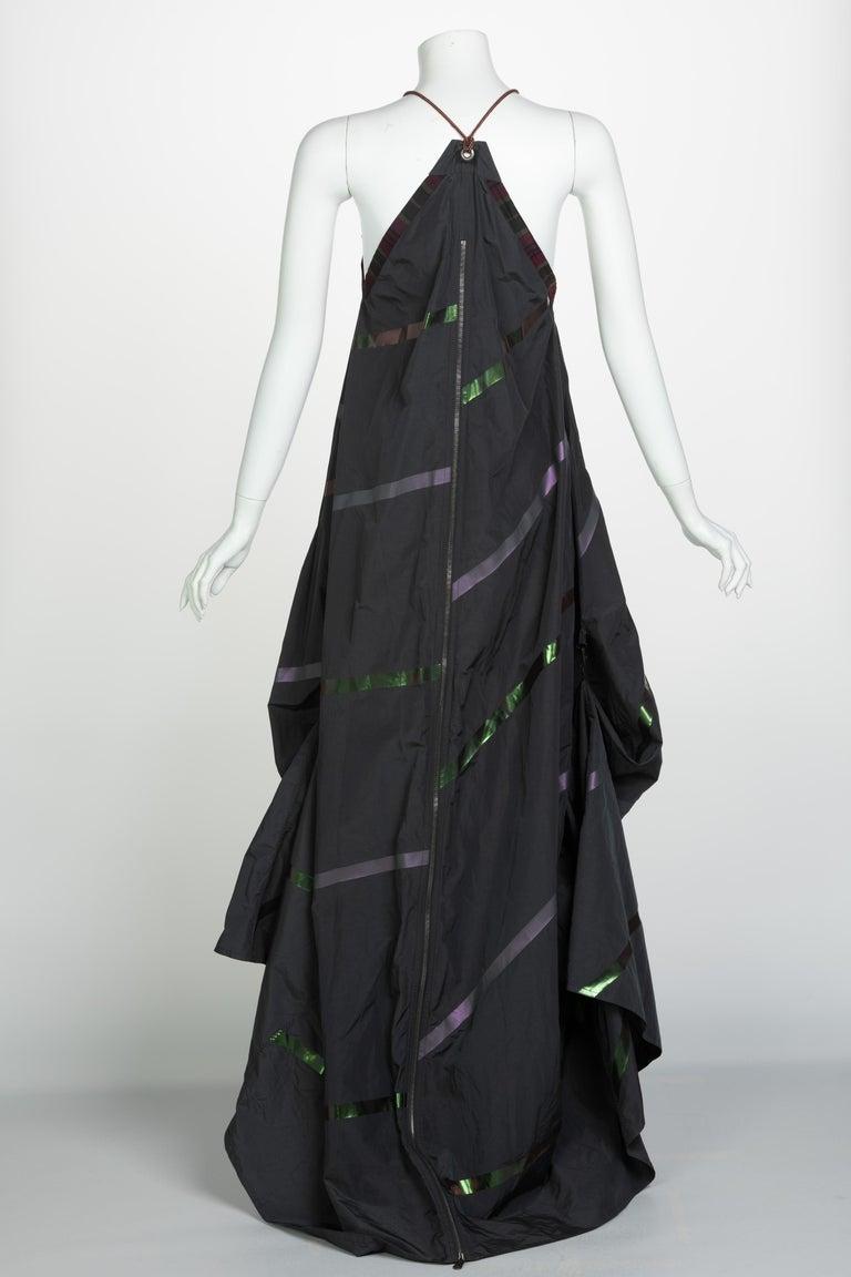 Bottega Veneta Grey Stripe Zipper Gown Runway Spring 2016 For Sale 5