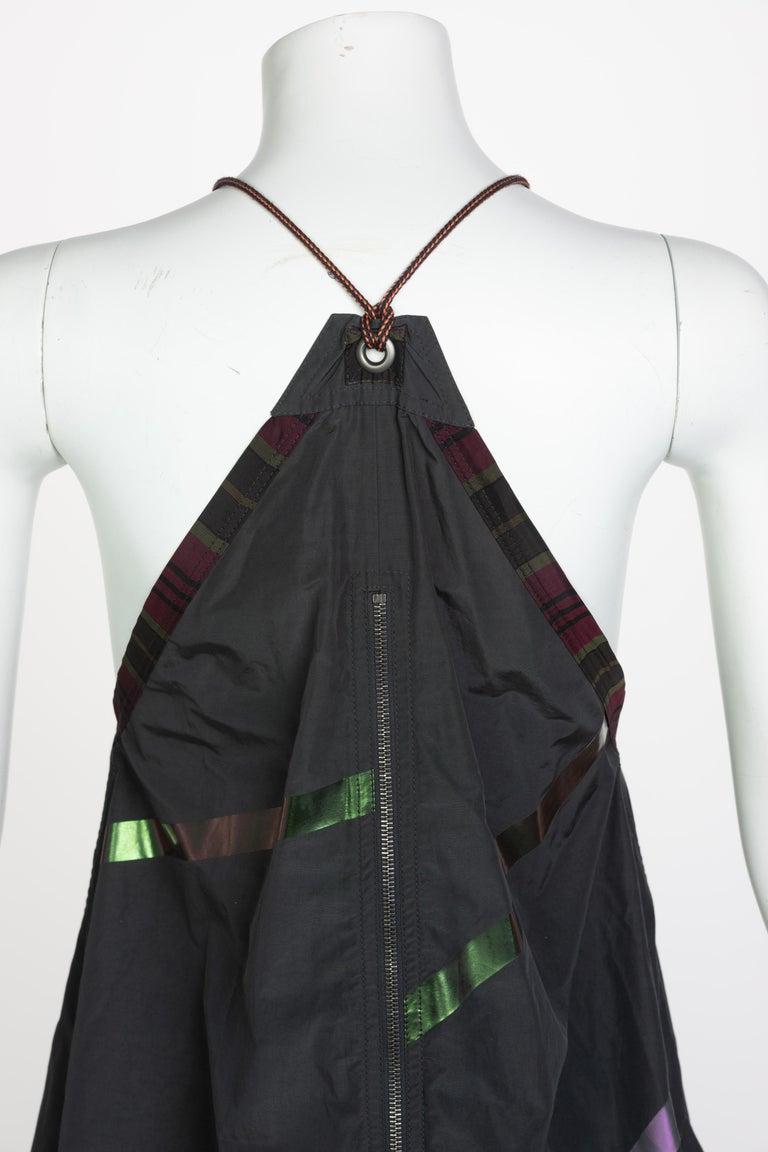 Bottega Veneta Grey Stripe Zipper Gown Runway Spring 2016 For Sale 7