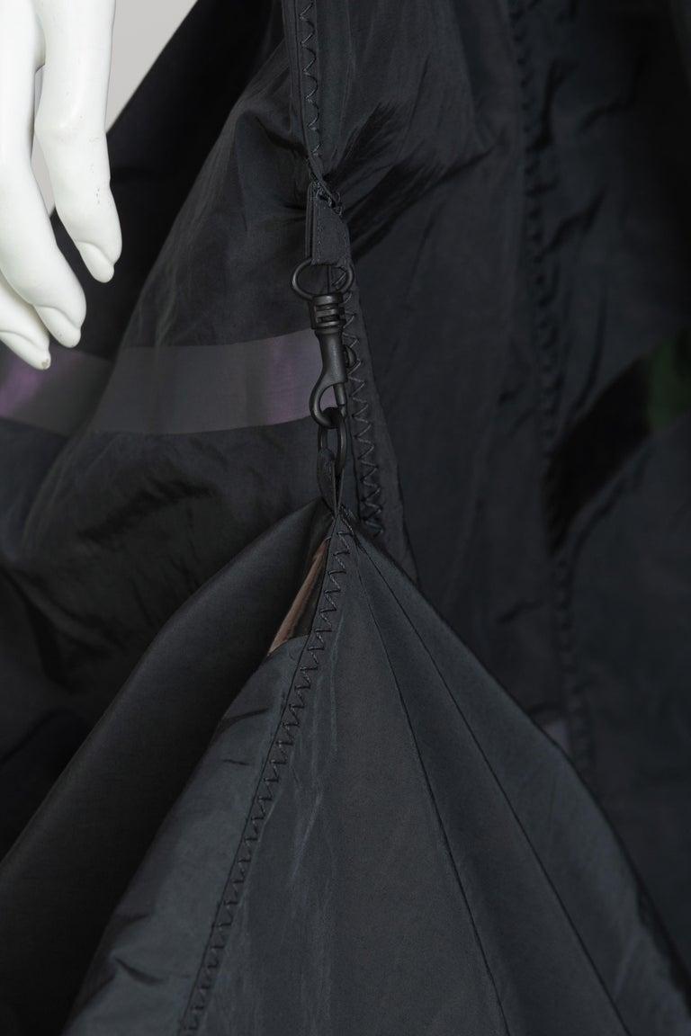 Bottega Veneta Grey Stripe Zipper Gown Runway Spring 2016 For Sale 2