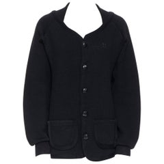 BOTTEGA VENETA heavy knit wool butterfly embroidered oversized cardigan EU52 XL