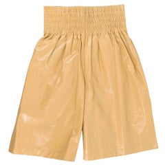 Bottega Veneta High-rise wide-leg leather shorts Runway SS20 - Size US2