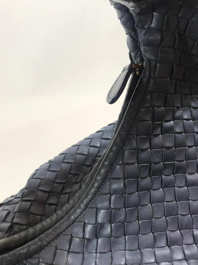 Bottega Veneta Intrecciato Leather Hobo For Sale 3