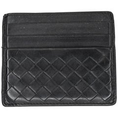 Bottega Veneta Intrecciato Woven Lambskin Double Sided Card Holder