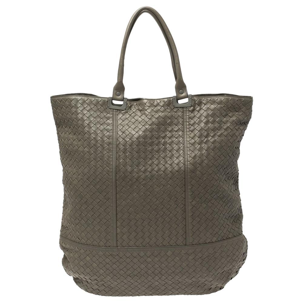 Bottega Veneta Khaki Intrecciato Leather Hobo