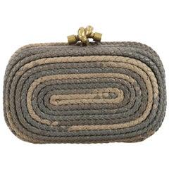 Bottega Veneta Knot Clutch Braided Leather Small