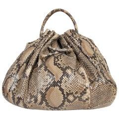 Bottega Veneta Large Python Hobo Bag
